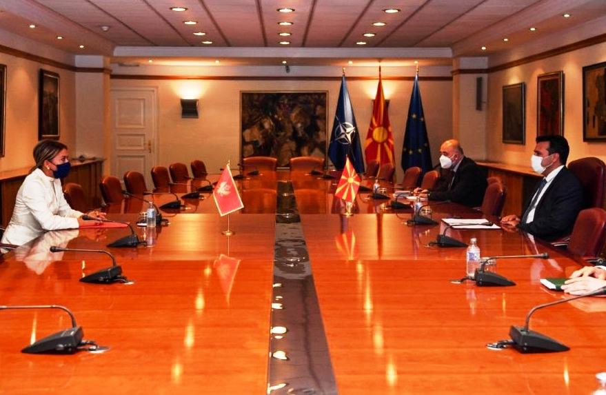 Заев на средба со црногорската амбасадорка: Двете земји почитуваат вредности на ЕУ и НАТО