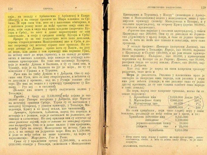 Српските ученици во 1871 година учеле дека Македонците се староседелци на Балканот
