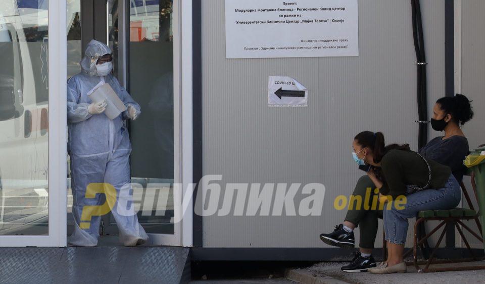 463 лица сомнителни и потврдени за ковид-19 се лекуваат на инфективните оддели во Скопје