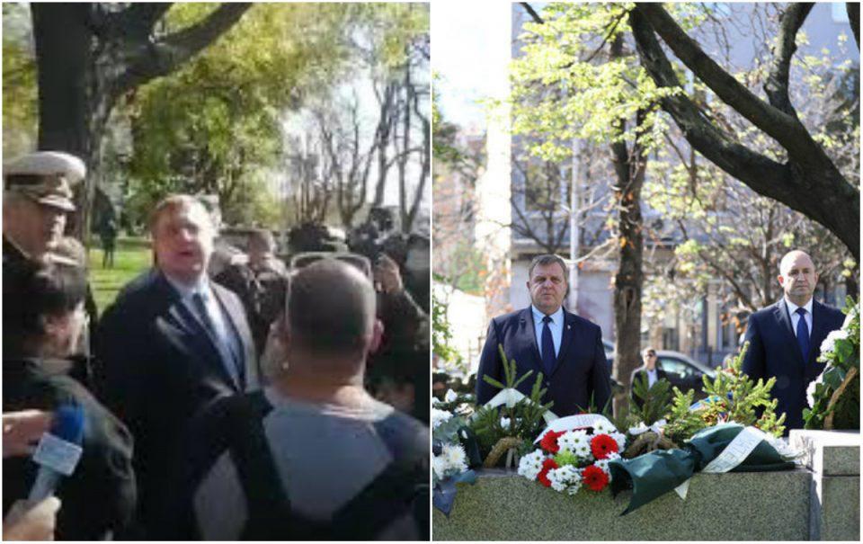 Демонстрант побара оставка, Каракачанов му одговори: Ти може да не си ја сакаш мајка ти