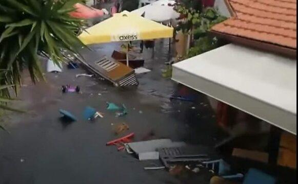 Силниот земјотрес го подигна нивото на водата во Егејското Море, поплавени делови од Измир