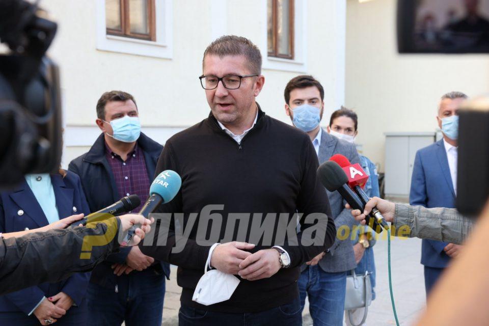 Мицкоски: ВМРО-ДПМНЕ не беше организатор на протестите, народот самиот се организираше
