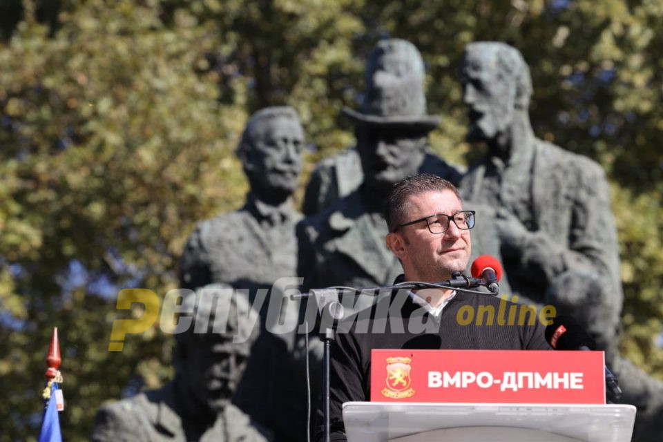 Мицкоски со порака до Бугарија: Вам не ви се потребни асимилирани соседи, не се договарајте со мафијашки структури, Заев ќе ве излаже за се