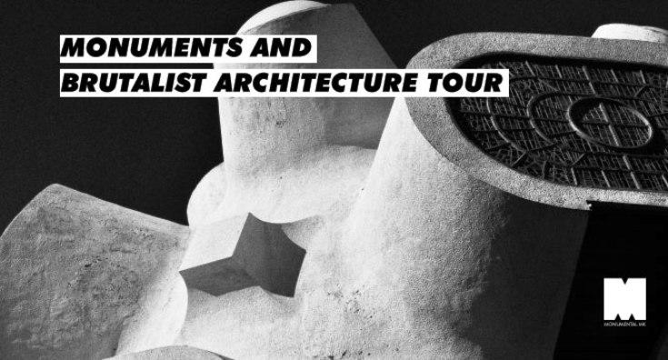 """Триесетина споменици дел од туристичката тура """"споменици и бруталистичка архитектура"""""""