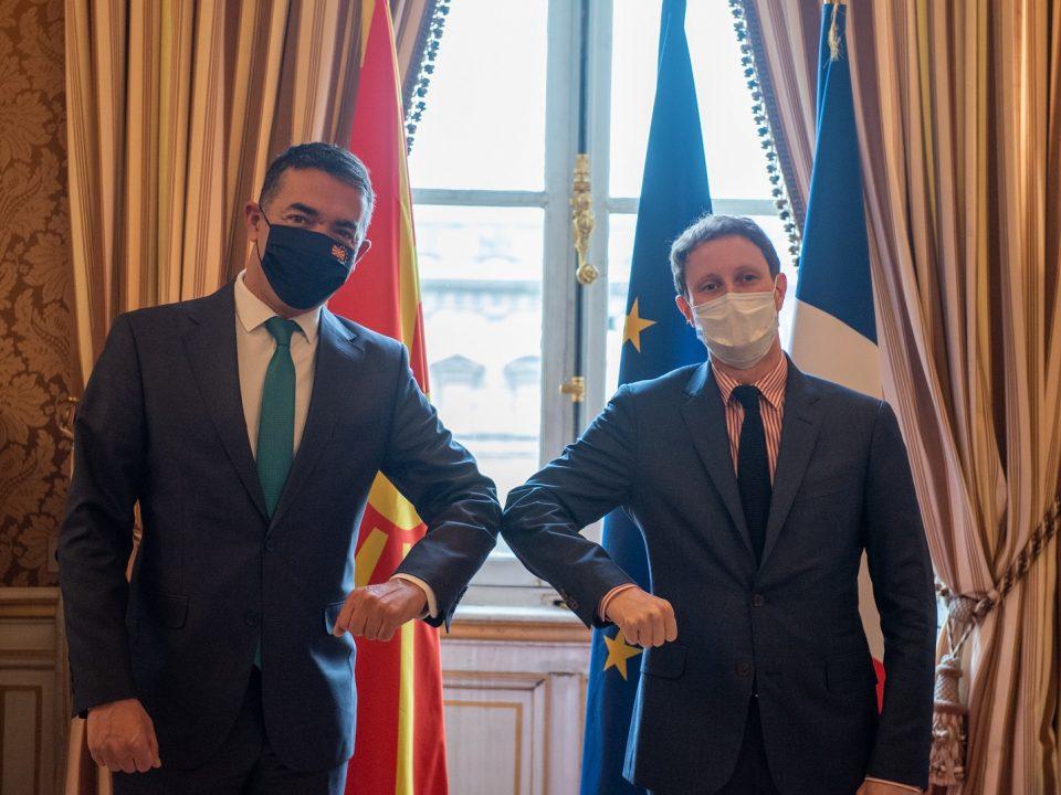 Димитров по средбата со Бон во Париз: Заслуживме место во визијата на Франција за иднината на Европа