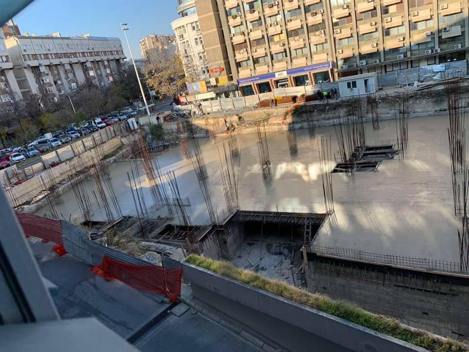 """Во Центар се гради објект без дозвола на местото на поранешниот објект """"Хотел Плаза"""""""