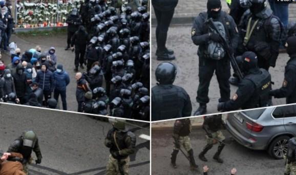 Нема мир во Белорусија: Полицијата отстрани импровизиран споменик