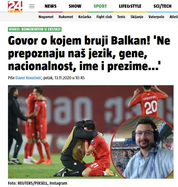 Емоциите на Тони допреа и до Хрватска, за говорот се најде на насловната страница