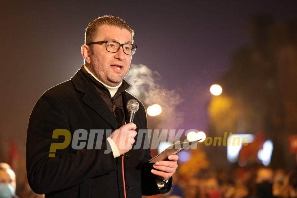 Мицкоски повикува на протест утре: Сега е времето кога треба да се протестира, за да не биде предоцна