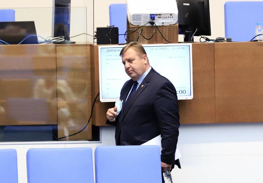 Каракачанов потврди: Нема да има почеток на преговори до крајот на годината