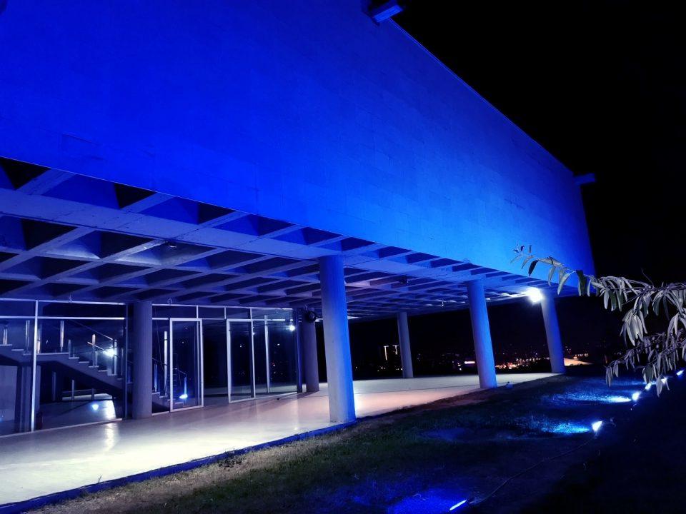 МСУ блесна во сина боја, како дел од Светскиот ден на детето