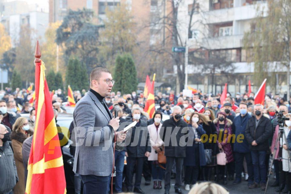 Мицкоски: Имам информација дека овие денови Заев ја продава Македонија во Софија, ќе ја блокираме државата доколку прифати нешто на штета на народот и земјата