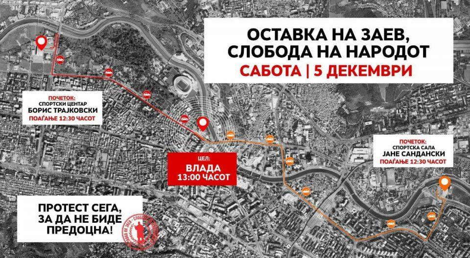 Протест пред Владата во 13 часот: Или Заев, или Македонија!