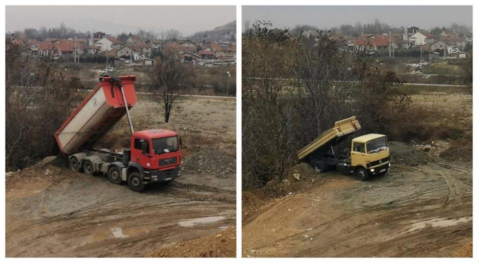 """Камиони истураат шут во заштитената зона во Карпош, во петок протест пред """"Ситимол"""""""