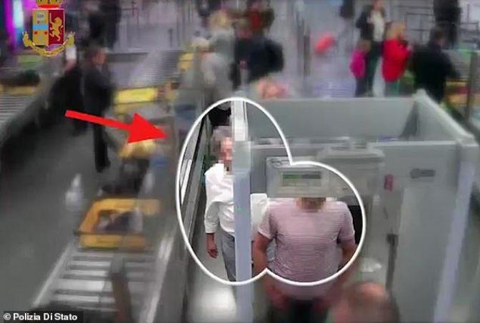 Дрска кражба при безбедносната контрола на аеродромот во Рим: Камерите го снимија крадецот