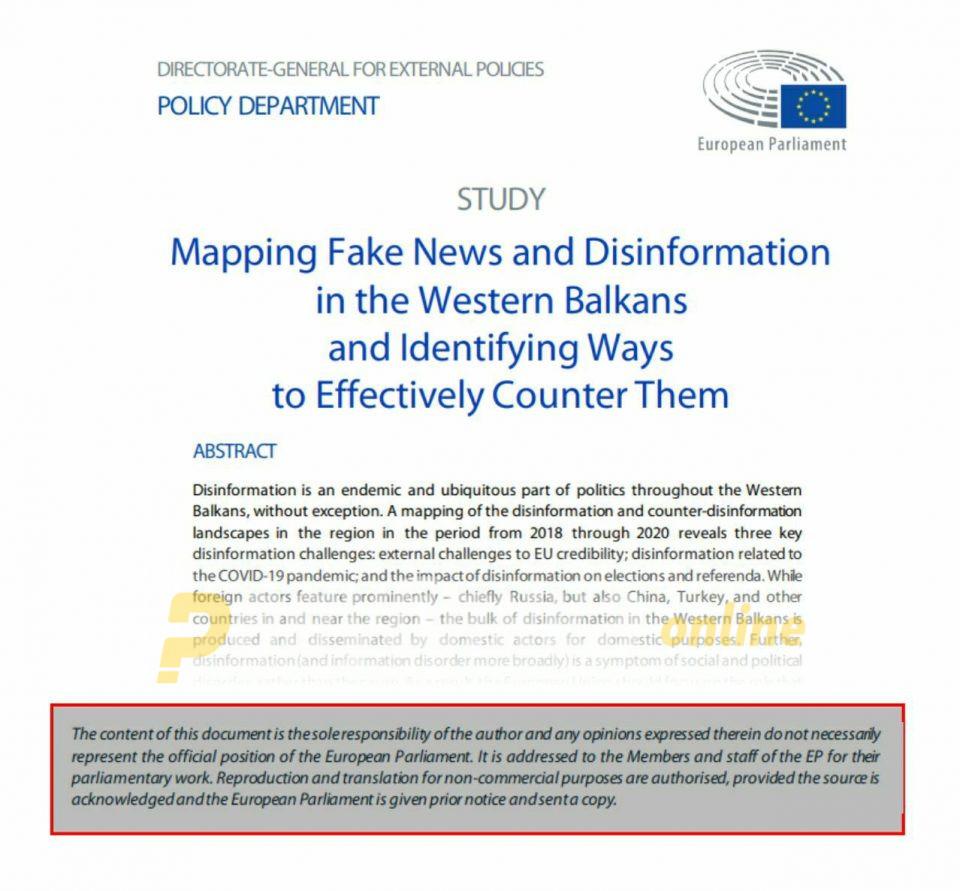 Документот за лажни вести не е став на Европскиот парламент, зад вистинската хистерија на лажни вести стои Заев