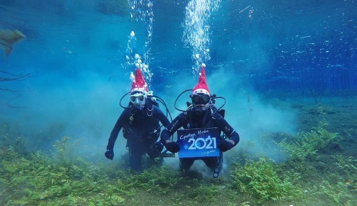 Среќна Нова 2021 година од длабочините на Охридското Езеро