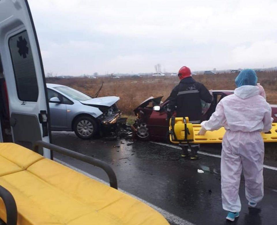 Петмина повредени во директен судир кај Струмица