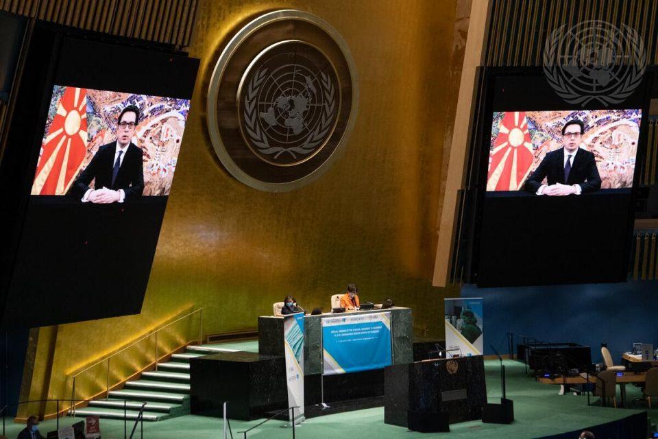 Пендаровски на сесија на ОН: Пандемијата бара системски одговор, заедно да работиме на издржливи здравствени системи