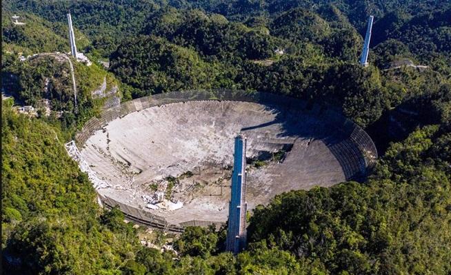 Се урна еден од најголемите телескопи на светот