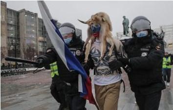 Протестант со рогови се појави и во Москва