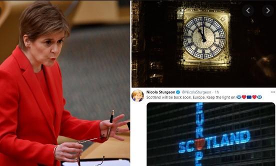 Шкотска не се сложува со Лондон: Премиерката објави-Шкотска наскоро се враќа во ЕУ, оставете ги светлата запалени