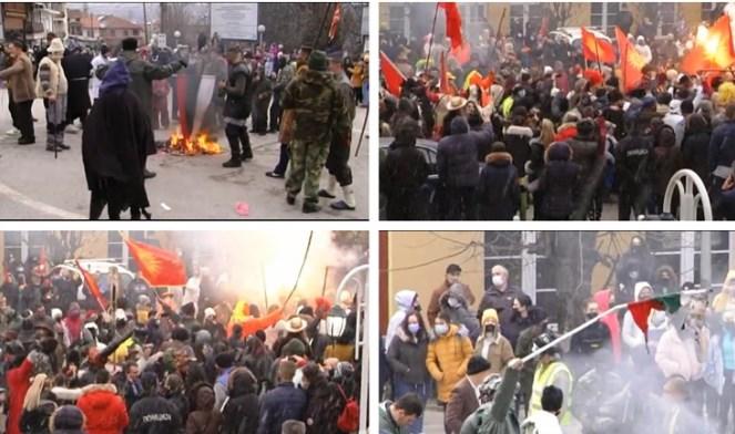 МВР го истражува палењето на бугарското знаме во Вевчани