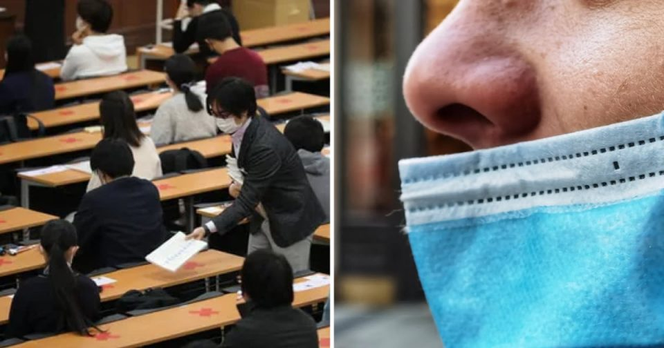 Студент избркан од приемен испит откако седум пати одбил да ја стави маската над носот