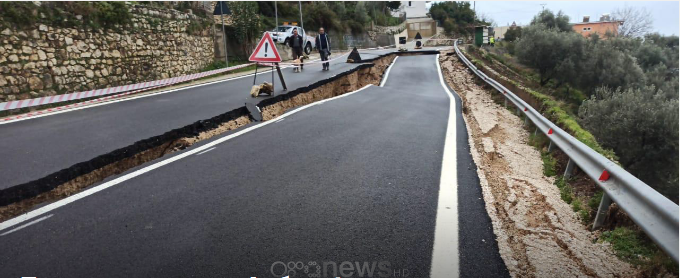Распука на половина патот Саранда – Борш, поплави низ цела Албанија