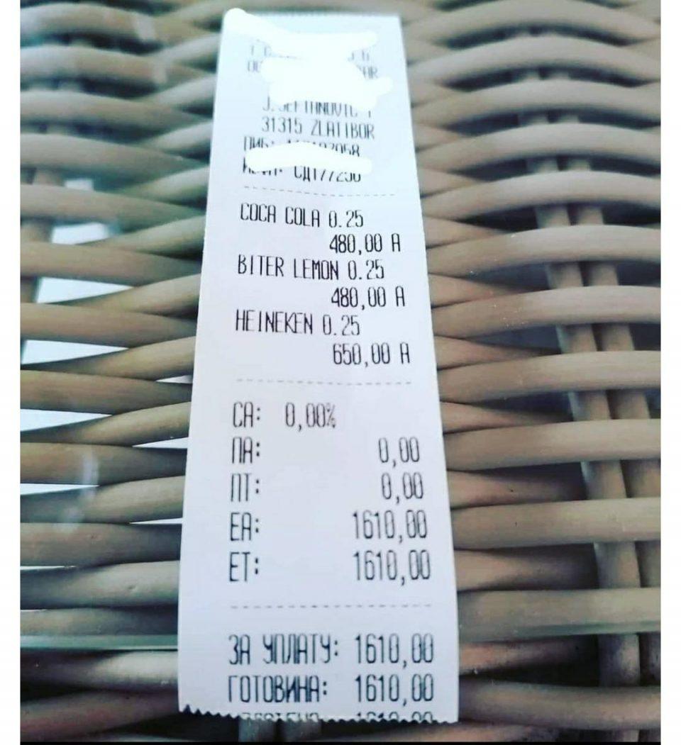 """""""Спрајт"""" од 250, еспресо од 140 денари ги разбесни туристите на Копаоник и Златибор"""