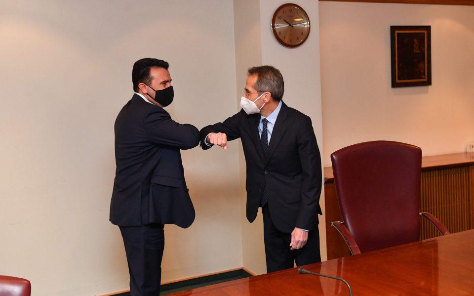 Заев се сретна со новиот грчки амбасадор Кундурос: Пријателството меѓу државите промовира стабилност во регионот