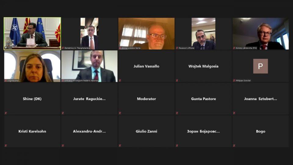 Средба Заев – ЕУ дипломати: Да продолжат разговорите со Бугарија