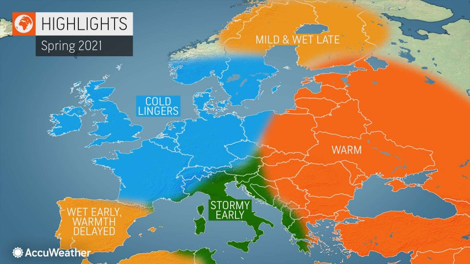Пролетта ќе доцни во Европа, метеоролозите најавуваат бури на Балканот