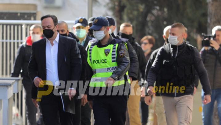 Мијалков со полициска придружба спроведен во Затворот во Шутка