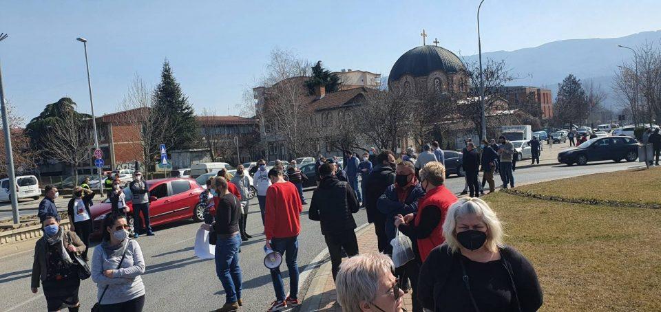 Протест против градење висококатници во Ѓорче Петров