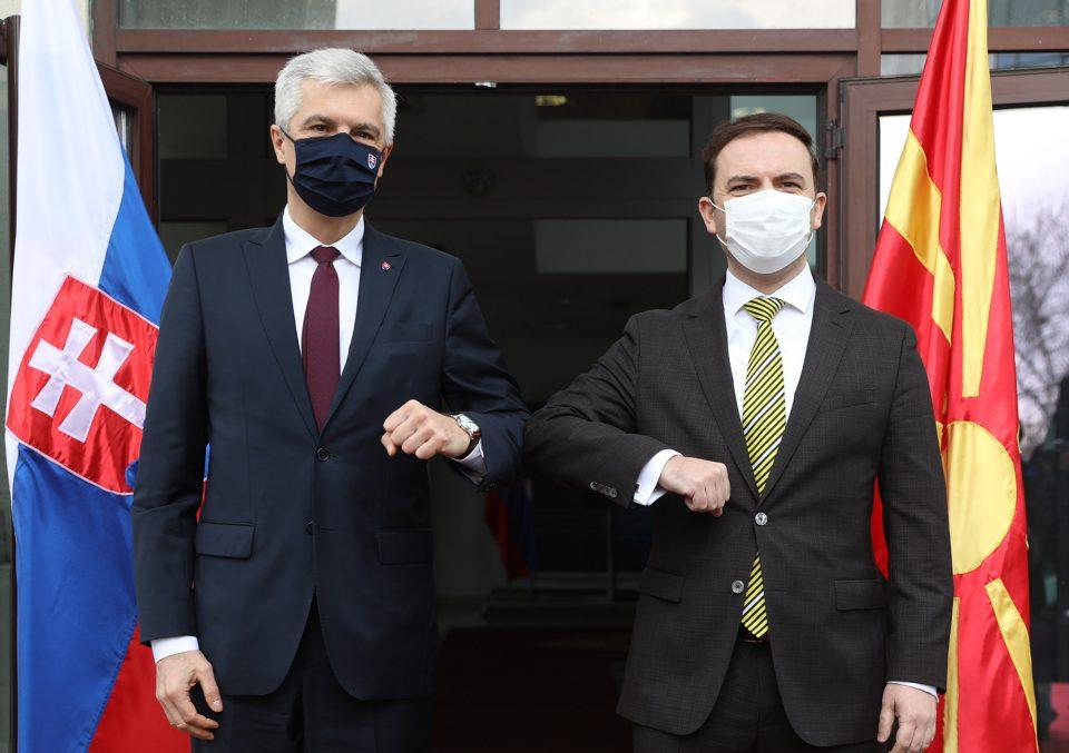 Словачка недвосмислено, јасно и принципиелно ја поддржува Македонија за почеток на преговори