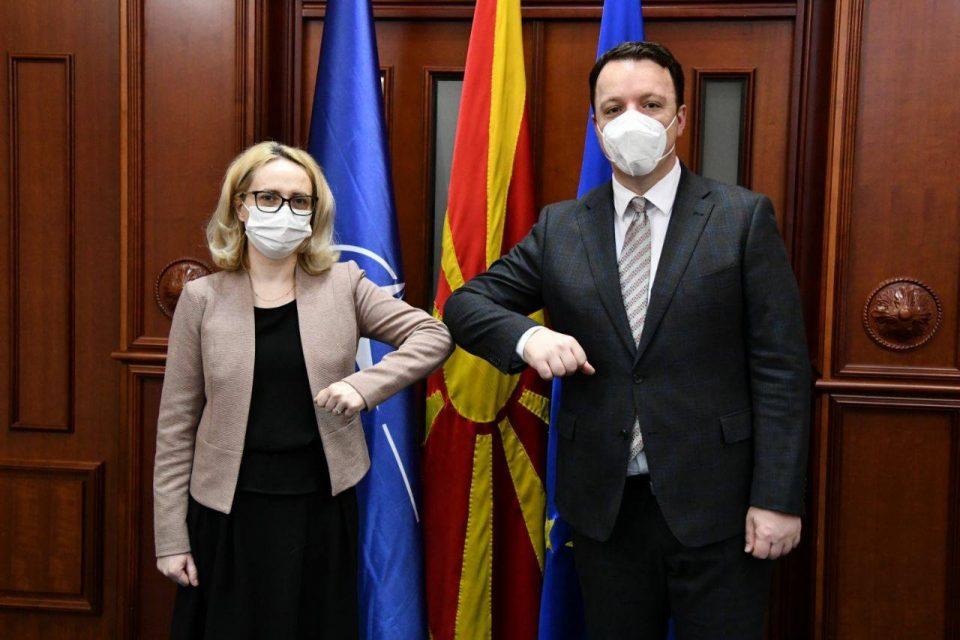 Претседателот на Националниот совет за евроинтеграции се сретна со романската амбасадорка Аксинте