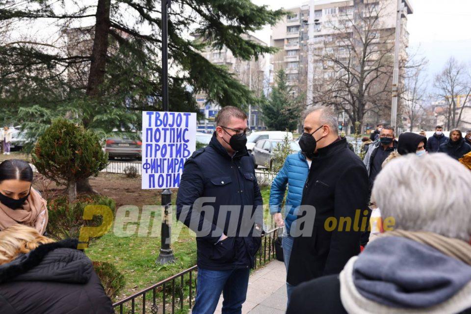 Мицкоски: Илјадици граѓани на Македонија го ставија потписот против фалсификат пописот на Заев