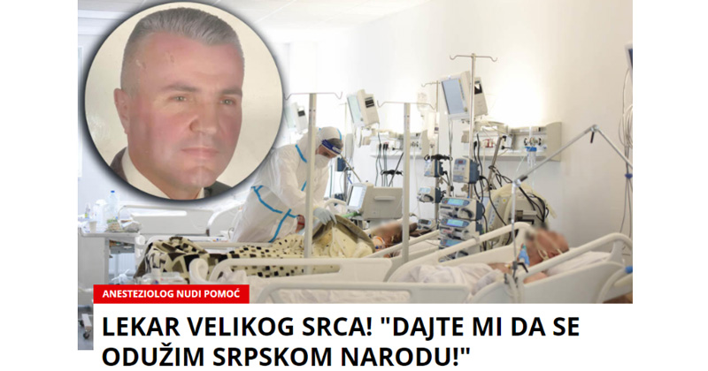 """Синот лекар им се заканува дека ќе им ги исече прстите на новинарите бидејќи пренеле вест од српски """"Курир""""за татко му"""