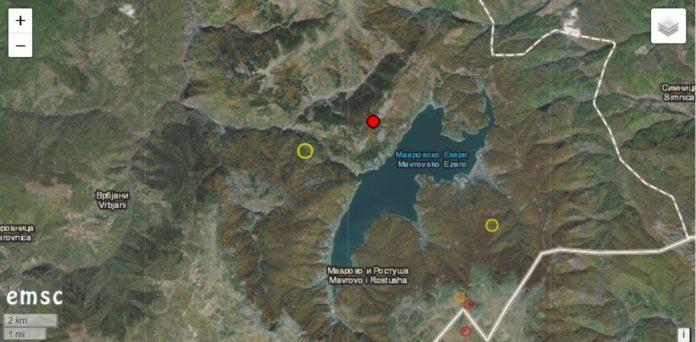 Земјотрес со јачина од 3,8 степени вечерва во Маврово
