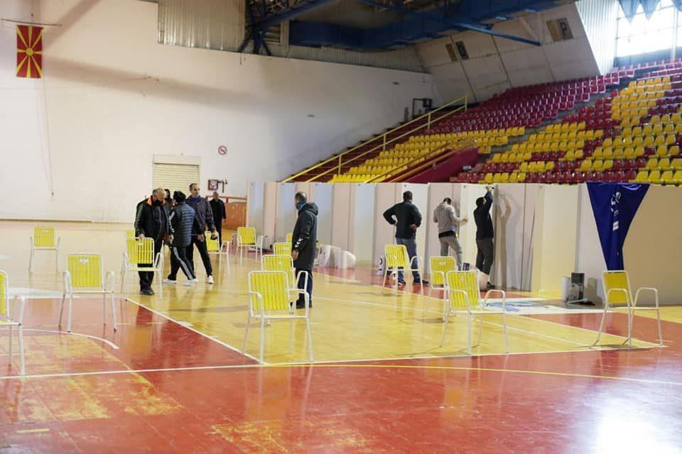 """Салата """"Билјани извори"""" во Охрид се подготвува за масовна имунизација, ќе има 28 пункта"""
