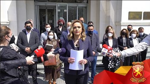 ВМРО-ДПМНЕ поднесе кривична пријава против пратениците со скафандери и спикерот Џафери
