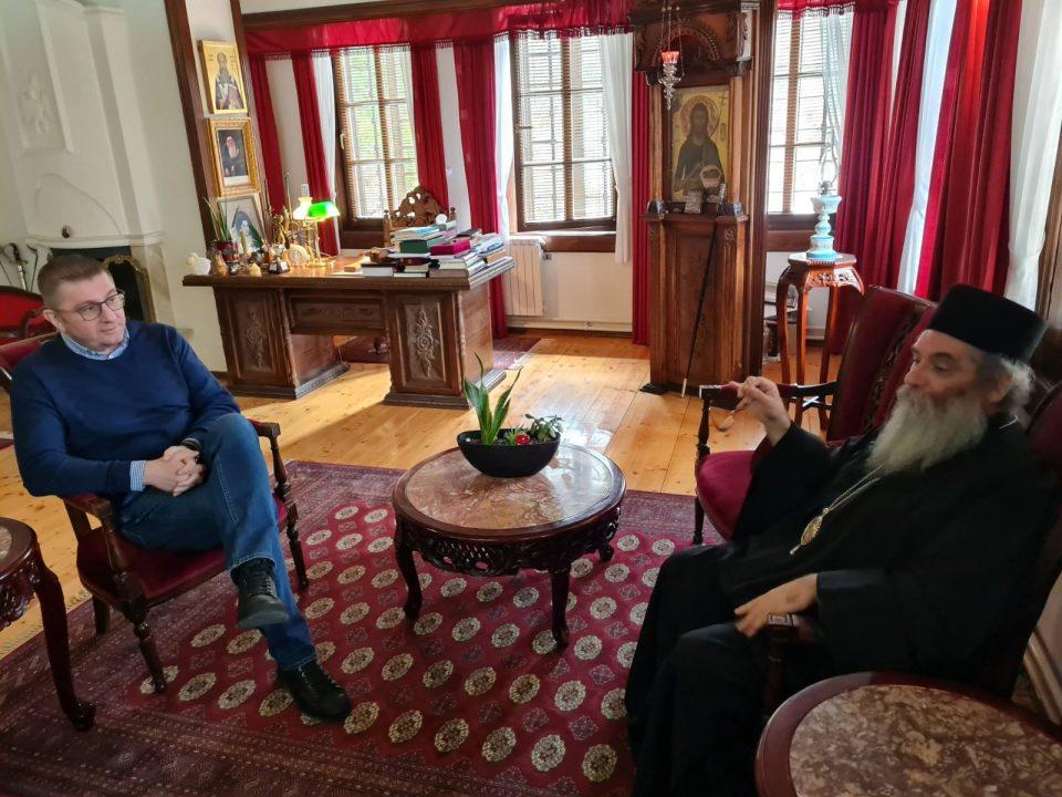 Мицкоски во посета на Бигорски манастир