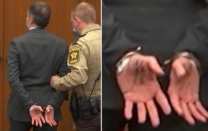 Обелоденето што пишуваше на дланката на убиецот на Џорџ Флојд кога го извадија од судницата