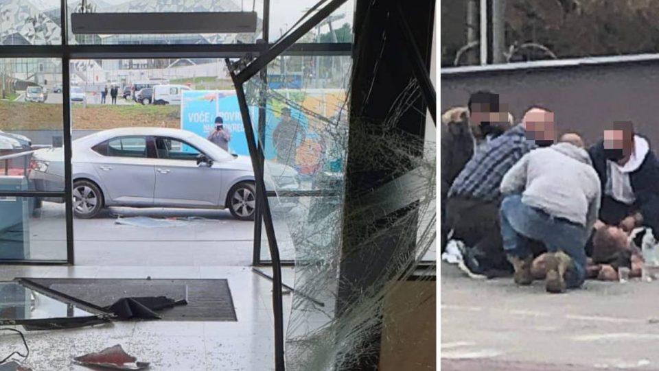 Маж со автомобил влетал во трговски центар и почнал да крши по кавга со аптекар