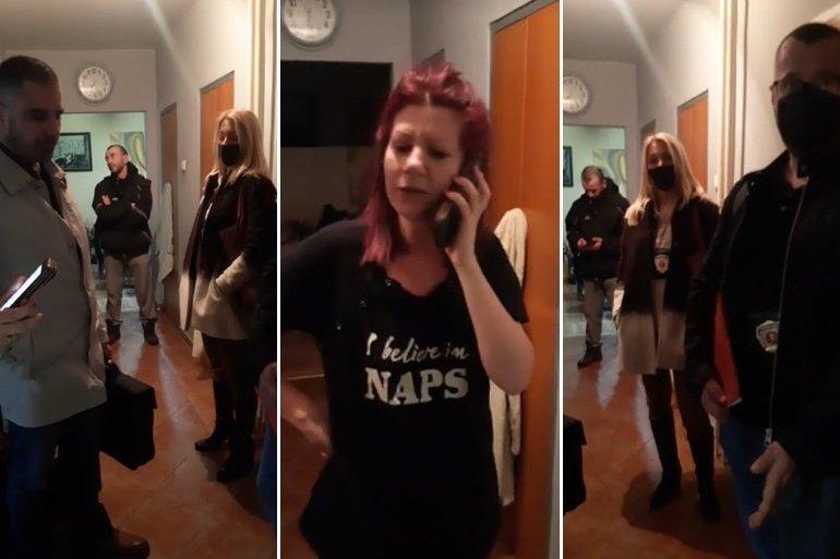 Полиција влезе во станот на лидерката на српските антиваксери, уапсени и други пет лица ширење паника