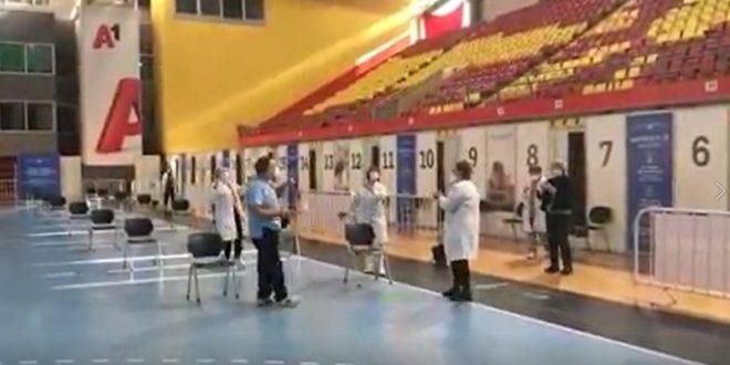 """Со песна на вакцина: Се пее и се игра во салата """"Борис Трајковски"""""""