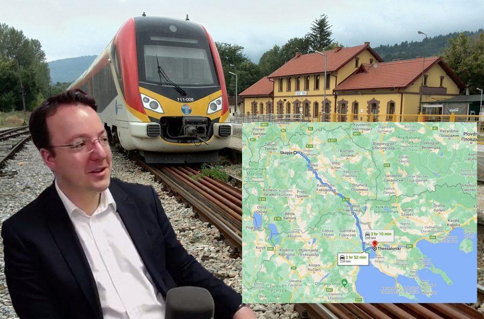 Николоски: Мојот сон е да се патува од Скопје до Солун за еден и пол час