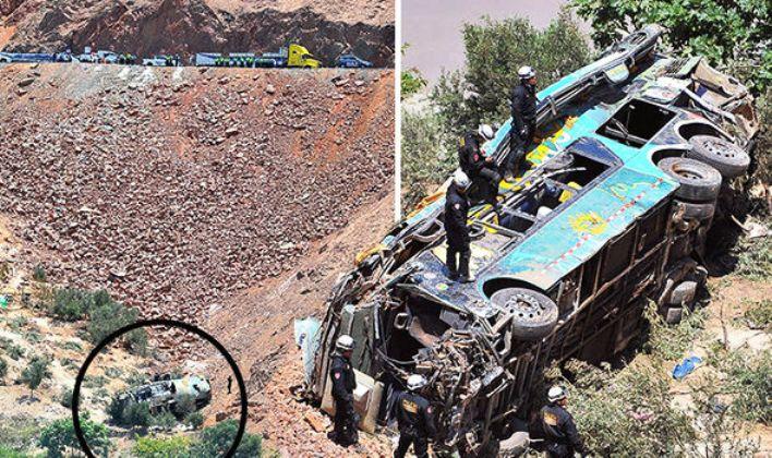 Автобус слета во бездна: Најмалку 20 загинати во несреќа во Перу