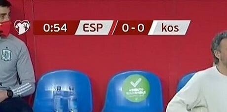 Косово напишано со мали букви на преносот во Шпанија
